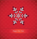 Snowflake card Royalty Free Stock Photo