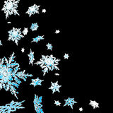 Snowflake cascade Stock Photo