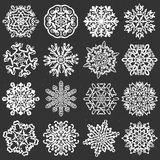 Snowflake chalk vectors. Royalty Free Stock Photos