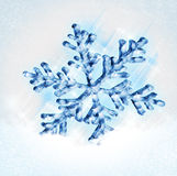 Snowflake Christmas. On abstract background stock illustration