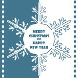 Snowflake Christmas background. Greeting card, banner or invitation. Merry Christmas and a happy new year. Element for design royalty free illustration