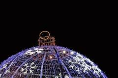 Snowflake on Christmas ball Stock Photography