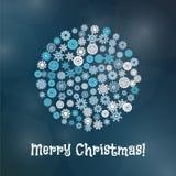 Snowflake Christmas Banner Stock Photography