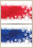 Snowflake Christmas Card Royalty Free Stock Photo