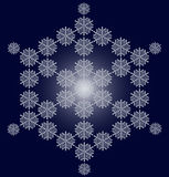 Snowflake christmas card. Contemporary christmas card in blue Stock Images