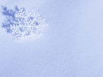 Snowflake Christmas Card - Stock Photo Royalty Free Stock Images