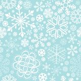 Snowflake christmas and new year seamless pattern