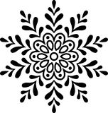 Snowflake Christmas New Year Stock Photos