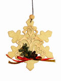 Snowflake Christmas Ornament 2. Snowflake Christmas Ornament on White Background Royalty Free Stock Image