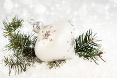 Snowflake Christmas Ornament royalty free stock photography