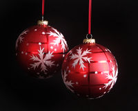 Snowflake Christmas ornaments Stock Photos