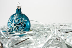 Snowflake Christmas ornaments Royalty Free Stock Images