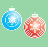 Snowflake Christmas Ornaments #2 Stock Image