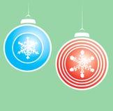 Snowflake Christmas Ornaments #2 Stock Image