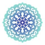 Snowflake. Christmas pattern. Circular ornament. Decorative lace. Vector Stock Photos