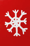 Snowflake Christmas postcard oil painting Royalty Free Stock Images