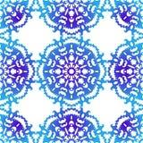 Snowflake. Christmas seamless pattern. Circular ornament. Decorative lace. Vector illustration Royalty Free Stock Image