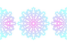 Snowflake. Christmas seamless pattern. Circular ornament. Decorative lace. Vector illustration Stock Photos