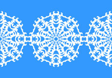 Snowflake. Christmas seamless pattern. Circular ornament, decorative lace. Vector illustration Royalty Free Stock Image