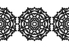 Snowflake. Christmas seamless pattern. Circular ornament, decorative lace. Vector illustration Royalty Free Stock Photography