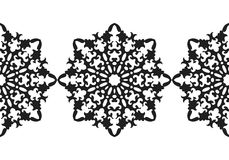 Snowflake. Christmas seamless pattern. Circular ornament, decorative lace. Vector illustration Stock Images