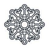 Snowflake of Christmas season design Royalty Free Stock Photography