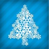 Snowflake christmas tree Royalty Free Stock Photos