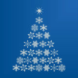 Snowflake Christmas tree Stock Photos