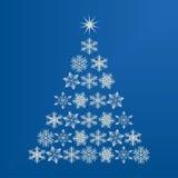 Snowflake Christmas tree. Christmas tree made up of snowflakes Stock Photos