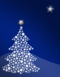 Snowflake Christmas Tree Stock Image