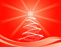 Snowflake christmas tree Royalty Free Stock Photo