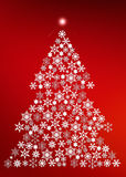 Snowflake Christmas Tree Royalty Free Stock Image