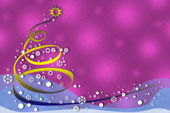 Snowflake christmas tree on abstract background Stock Photo