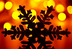 Snowflake Christmas tree decoration Royalty Free Stock Image