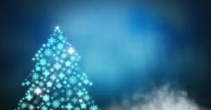 Snowflake Christmas tree pattern shape. Digital composite of Snowflake Christmas tree pattern shape Stock Photos