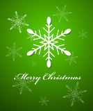 Snowflake Christmas Vector Background Stock Photos