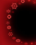 Snowflake circle 5. An artistic holiday background style image stock illustration