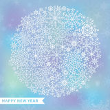 Snowflake circle on blur background Royalty Free Stock Images