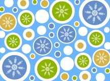Snowflake Circles Background Stock Image