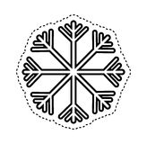 Snowflake climate sign icon Stock Image