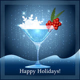 Snowflake cocktail Royalty Free Stock Image