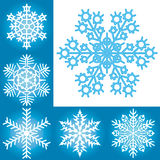 Snowflake collection Royalty Free Stock Photos