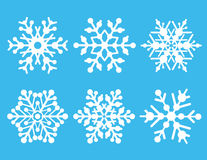 Snowflake Collection royalty free stock photography