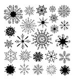 Snowflake collection. vector illustration. Doodle Snowflake collection. vector illustration stock illustration