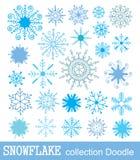 Snowflake collection. vector illustration. Doodle Snowflake collection. vector illustration royalty free illustration