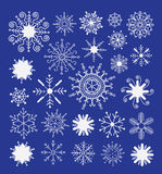 Snowflake collection. vector illustration. Doodle Snowflake collection. vector illustration Stock Photography