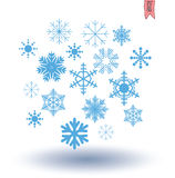 Snowflake collection. vector illustration. Royalty Free Stock Photo