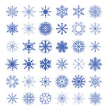 Snowflake collection. vector illustration. Royalty Free Stock Photos