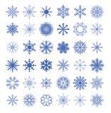 Snowflake collection. vector illustration. Snowflake set collection. vector illustration Royalty Free Stock Photos