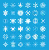 Snowflake collection. vector illustration. Snowflake set collection. vector illustration Stock Images
